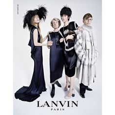 LANVIN 3 of 3-LANVIN made its fall/winter 2014 collection ad campaign bonded with model Edie Campbell, and expectedly, alongside her family and her horse, photographed by Tim Walker. Family bond strengthens the campaign's public attention. The family models consist different ages, creating an interesting story through the photo collection that can be enjoyed by people from different ages. Echoing with the 125th anniversary, this campaign also shows a LANVIN mother and daughter image.