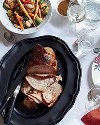 Honey-Soy-Roasted Pork with Braised Vegetables