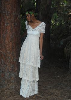 Long Hippie Wedding Dresses Non Traditional wo in one wedding dress in non