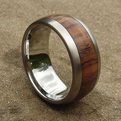 Wide Luxury Titanium & Wooden Wedding Ring | UK! Wood Inlay Rings, Wood Rings, Titanium Wedding Rings, Jewelry Rings, Rings For Men, Engagement Rings, Luxury, Wooden Rings, Enagement Rings