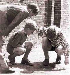 Knikkeren in de jaren '60.