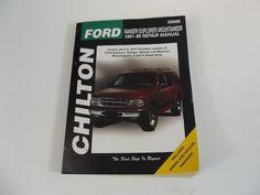 Chilton Manual Ford Ranger Explorer Mountaineer 1991 - 1999 Wiring Vaccum Diagra