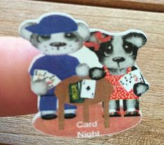 Planner stickers Card/game night bear fits Erin by sisscreations