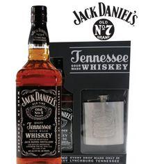 Jack Daniels N°7 + Petaca Acero Jack. Great Pack. Chile