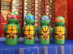 Teenage Mutant Ninja Turtles- PegBuddies Set of 4