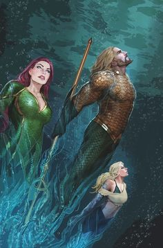 Getting closer to seeing Aquaman on the big screen! Let's keep my countdown of Top 10 Aquaman Artists going with numbers 6 and Stjepan Sejic. Bearded Aquaman hasn't been represented much so. Marvel Vs, Marvel Dc Comics, Comics Anime, Dc Comics Art, Nightwing, Batwoman, Deathstroke Batman, Comic Book Characters, Comic Character