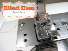 Blind Hem Stitching | The Sewing Loft