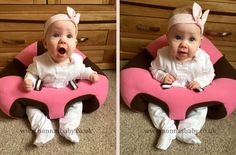 """Millie is so cute and happy in her new Hugaboo seat! Mummy Nicola commented """"she loves the freedom of being able to sit alone without us holding her up xxxxx"""". Nonna is delighted! :-)"""