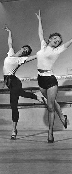 Marilyn having dance lessons, February 11, 1949. Photo by J.R Eyerman.
