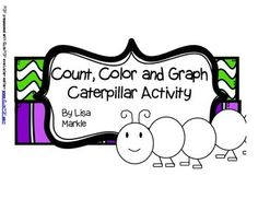 This activity is great for a math center or for an individual activity for advanced learners! Students will roll the number die and color die included and color the circles of the caterpillar. Then they will count how many circles were each color and graph it on their own graph.