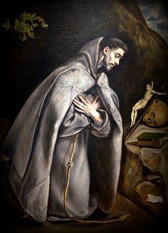 El Greco - St. Francis Venerating the Crucifix, 1595 at the Legion of Honor (Fine Arts Museums of San Francisco CA) | Flickr - Photo Sharing!