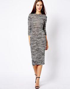 New Look Space Dye Midi Dress