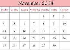 November 2018 Blank Calendar Printable PDF Word Excel, Editable November 2018 Blank Calendar With Holidays, November 2018 Blank Calendar Templates Weekly and Monthly Planner 2018 Printable Calendar, Free Printable Calendar Templates, Blank Calendar Template, Print Calendar, Calendar 2018, Pdf Calendar, Calendar Design, Calendar For April, Creative Calendar