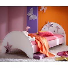 Maedchen-Prinzessinen-Kinderbett-inkl-Matratze-Bett-Kinderzimmer-lila-weiss-Jugend