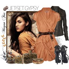 That color is perfect for my skin color, love the outfit!...but id go with boots instead:)