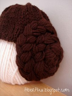 Fiber Flux...Adventures in Stitching: Free Knitting Pattern...Princess Leia Hat
