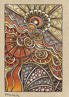 Zentangle art Artwyrd on Art Doodle, Tangle Doodle, Tangle Art, Zentangle Drawings, Doodles Zentangles, Doodle Drawings, Doodle Patterns, Zentangle Patterns, Arte Linear