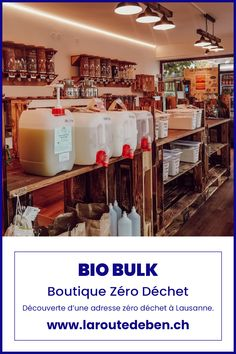 Dans les hauts de Lausanne, Bio Bulk est une boutique qui accompagne vers le zéro déchet. #lausanne #zerodechet #minimalisme #blog #suisse Lausanne, Boutique, Bio, Liquor Cabinet, Food Items, Minimalism, Tops, Switzerland, Fine Dining