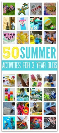 3 year old activities --> 50 summer activities for 3 year olds . . . I KNOW that many of my friends will love this one from the amazing @Allison @ No Time For Flash Cards