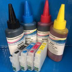 27 Series Refillable Cartridges   400ml Ink Epson 2711-2714 WF 7110DTW 7610DWF Non OEM