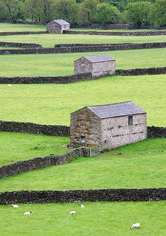 Barns in Swaledale - inspiration from Yorkshir