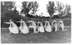 University of Miami cheerleaders, 1930's.
