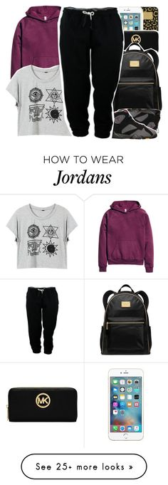 """•"" by abigail-petion on Polyvore featuring Michael Kors, MICHAEL Michael Kors, BP., H&M and adidas"
