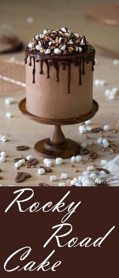 The most decadent chocolate rocky road cake possible! via Preppy Kitchen | Ice cream desserts, amazing cakes, dessert cakes, easy cake recipes