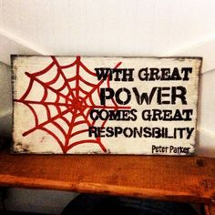 With great power comes great responsibility by RusticBarndecor, $45.00