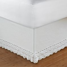 White Crochet Lace 18-inch Drop Bedskirt | Overstock™ Shopping - Top Rated Bedskirts