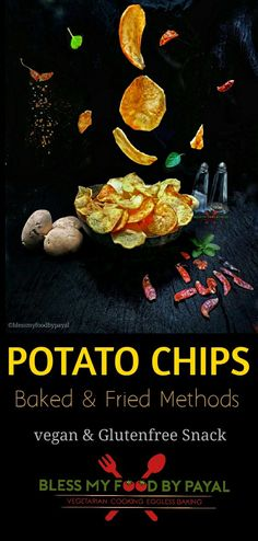 Dried Potatoes, Crispy Potatoes, Vegetarian Cooking, Vegetarian Recipes, Healthy Recipes, Fried Chips, Types Of Potatoes, Eggless Baking, Chips Recipe