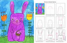 Art Projects for Kids: Draw an Easter Bunny