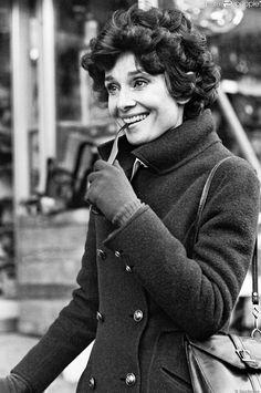 Rare Audrey Hepburn — Audrey Hepburn shopping at an antique shop in...