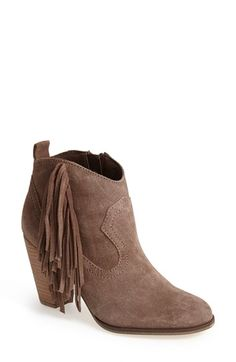 Free shipping and returns on Steve Madden 'Ponncho' Suede Bootie (Women) at Nordstrom.com. Lush fringe lends Western attitude to an essential suede bootie set on a trend-right stacked heel.