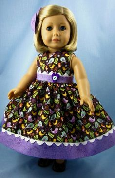 18 Inch Doll Dress   Dress and Hair Bow in by SewMyGoodnessShop, $22.00