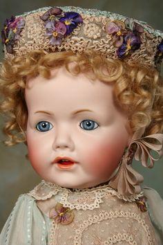 """18"""" reproduction of original Kestner Hilda baby. Beautifully done!"""