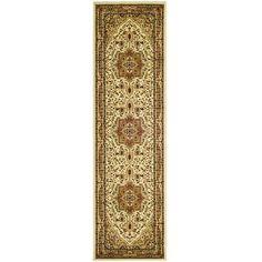 "Safavieh Lyndhurst Traditional Oriental Ivory/ Rust Runner Rug (2'3"" x 14'), Size 2'3"" x 14' (Polypropylene, Medallion)"