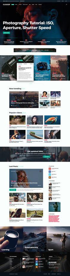 Vlogger - Video Website Template #youtube video • Download ➝ https://themeforest.net/item/vlogger-video-website-template/20144476?ref=pxcr