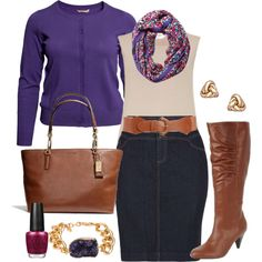 """Purple & Denim - Plus Size"" by alexawebb on Polyvore"