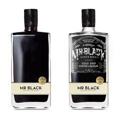 Mr. Black Spirits Co. - David Sanden #lettering #typography #packaging