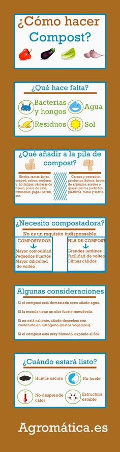 Infographic on how to make compost – Agromatic – # Agromatic … - Modern Eco Garden, Garden Plants, Organic Gardening, Gardening Tips, How To Make Compost, Little Gardens, Green Life, Horticulture, Vegetable Garden