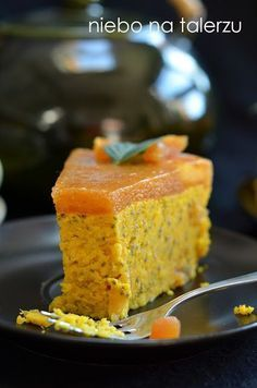 ciasto z dynią Gluten Free Recipes, Vegan Recipes, Cooking Recipes, Sweets Recipes, Cake Cookies, Cornbread, Food To Make, Food And Drink, Menu