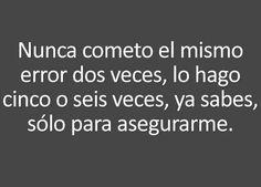 Nunca comento el mismo #error...