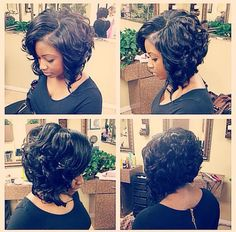 wanna give your hair a new look? Curly bob hairstyles is a good choice for you. Here you will find some super sexy Curly bob hairstyles, Find the best one for you, Short Curly Weave Styles, Short Hair Cuts, Curly Hair Styles, Natural Hair Styles, Curly Short, Haircuts For Curly Hair, Pixie Haircuts, Curly Weaves, My Hairstyle