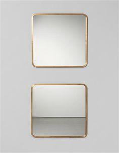Josef Frank; Glass and Brass Mirrors for Svenskt Tenn, 1940s.