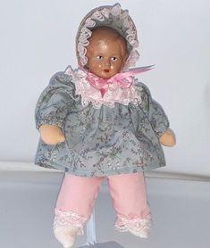 Selten  Schildkröt Puppe JgA 95 REP 019 / 25  Top Zustand Babypuppe Celluloid ?