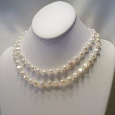 Beautiful Baroque Freshwater Pearls Necklace by tbyrddesigns, $39.00