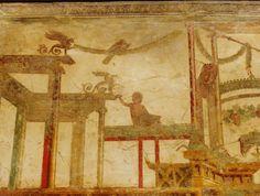 Fresco uit Pompeï (1e eeuw). Thans in het museo archeologico nazionale in Napels