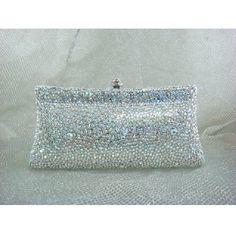 69.00$  Buy now - http://alicy6.shopchina.info/go.php?t=32391969191 - 7732AB whiteAB Crystal lady fashion Bridal Party Night Metal Evening purse clutch bag case box handbag 69.00$ #buyininternet
