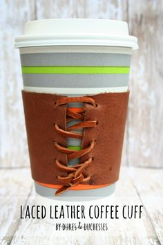 laced leather coffee